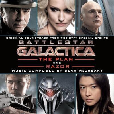 Cover art for Battlestar Galactica: The Plan / Razor