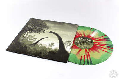 Cover art for Jurassic Park (Version A (Dilophosaurus))