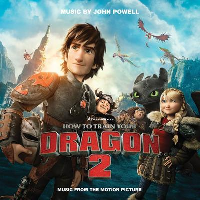 Cover art for How to Train Your Dragon 2 (Yellow/Red Vinyl)