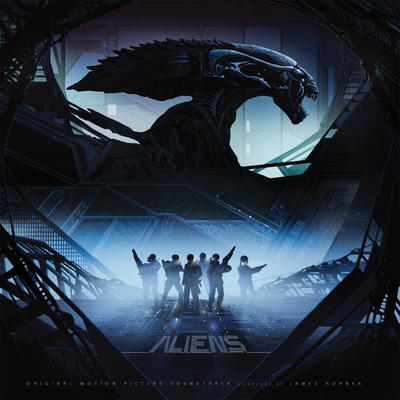 Cover art for Aliens (Blue & Black Swirl / Yellow with Black Stripe)