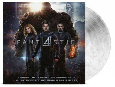 Cover art for Fantastic Four (Original Motion Picture Soundtrack) (Black & White Marbled Vinyl Variant)
