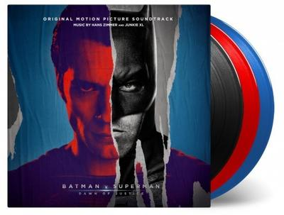 Cover art for Batman v Superman: Dawn of Justice (Original Motion Picture Soundtrack) (Red-Blue-Black Vinyl Variant)