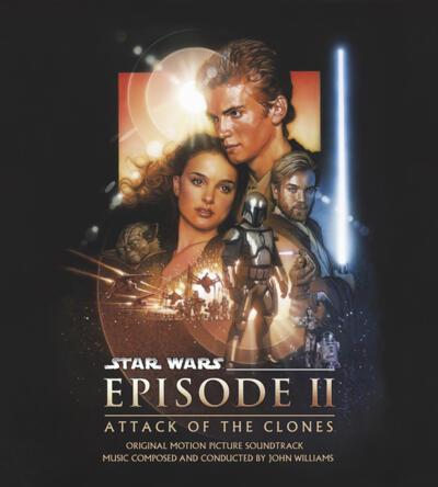 Cover art for Star Wars: Episode II - Attack of the Clones (Original Motion Picture Soundtrack) (Jango Fett (Silver / Royal Blue) Vinyl Variant)