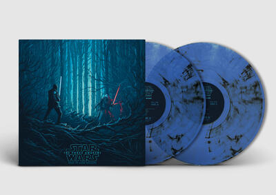 Cover art for Star Wars: The Force Awakens - Collector's Edition (Original Motion Picture Soundtrack) (Finn & Kylo (Blue & Black Smoke) Variant)