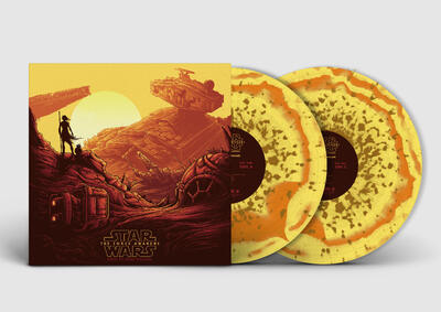 Cover art for Star Wars: The Force Awakens - Collector's Edition (Original Motion Picture Soundtrack) (Rey (Yellow / Orange / Brown Marble) Variant)