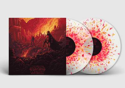 Cover art for Star Wars: The Force Awakens - Collector's Edition (Original Motion Picture Soundtrack) (Phasma (Clear w/ Red, Yellow, and Orange Splatter) Variant)