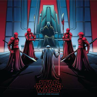 Cover art for Star Wars: The Last Jedi (Original Motion Picture Soundtrack) (Snoke & Kylo (Black/Red/White Disc 1 - Black/BlueWhite Disc 2) Vinyl Variant)