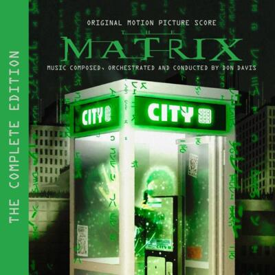Cover art for The Matrix: The Complete Edition (Original Motion Picture Score) (Glitter-Infused Green Vinyl Variant)