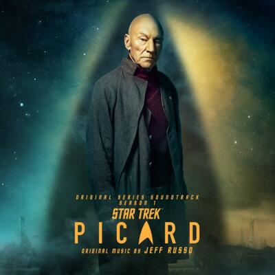 Cover art for Star Trek: Picard – Season 1 (Original Series Soundtrack) (Transparent Green W/ Splatter Vinyl Variant)