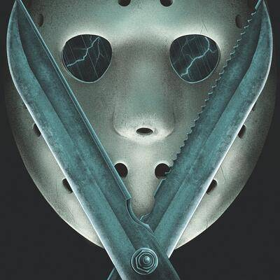 "Cover art for Friday the 13th: A New Beginning (Music From The Motion Picture) (""Impostor Jason Blue"" Vinyl Variant)"