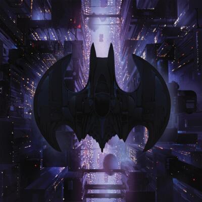 Cover art for Batman (Original Motion Picture Score) (Black and Purple Split Color Vinyl Variant)