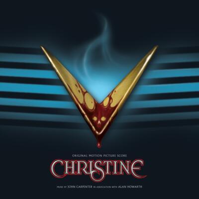 Cover art for Christine (Original Motion Picture Score) (Blue / Gold & Red Splatter Vinyl Variant)